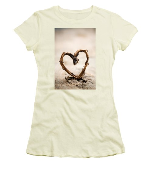 Valentine Heart Women's T-Shirt (Athletic Fit)
