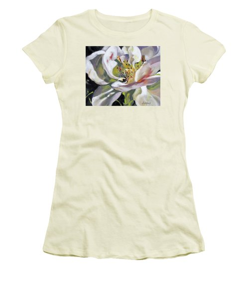 A Rose By Any Other Name Women's T-Shirt (Junior Cut) by Rae Andrews