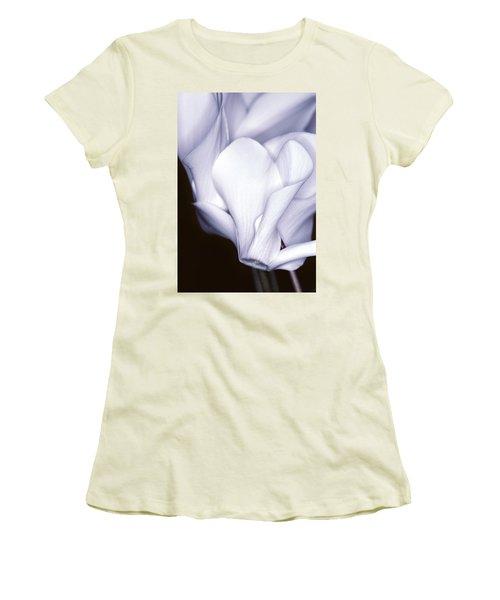 Silky Cyclamen Flowers Women's T-Shirt (Athletic Fit)