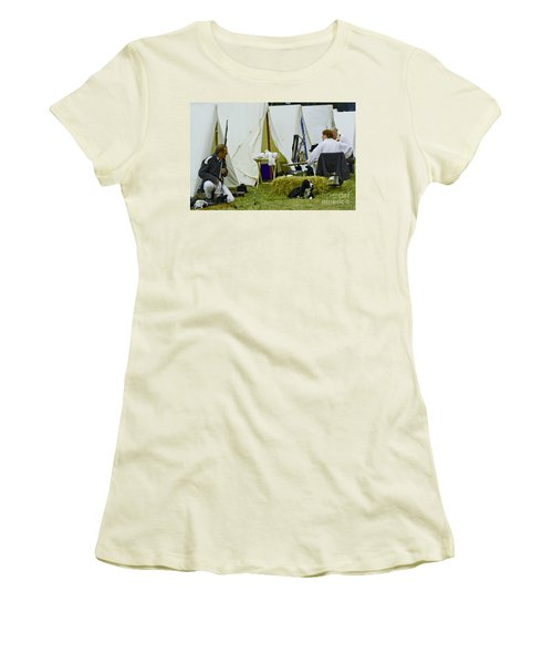 American Camp Women's T-Shirt (Junior Cut) by JT Lewis