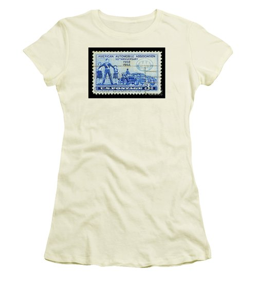 Women's T-Shirt (Junior Cut) featuring the photograph Automobile Association Of America by Andy Prendy