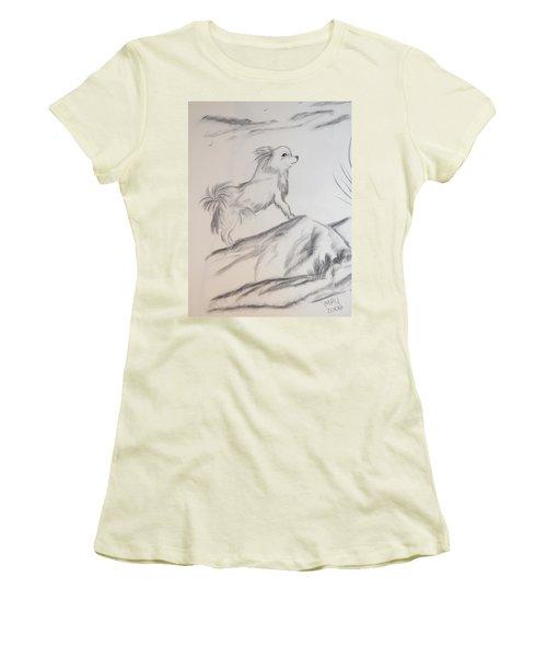 Aye Chihuahua Women's T-Shirt (Junior Cut) by Maria Urso