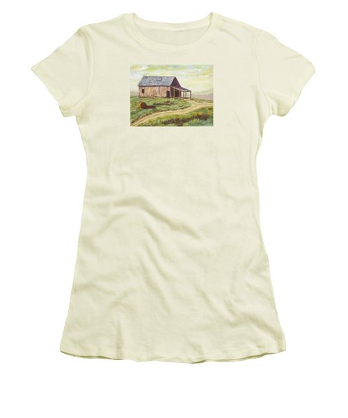Barn On The Ridge Women's T-Shirt (Junior Cut) by Alan Mager