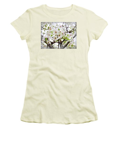 Women's T-Shirt (Junior Cut) featuring the photograph Blooming Ornamental Tree by Kay Novy