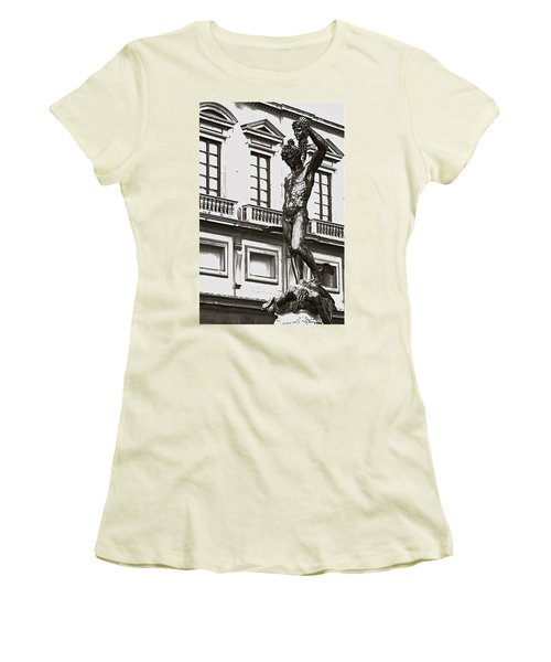 Women's T-Shirt (Junior Cut) featuring the photograph Bronze Icon by Eric Tressler