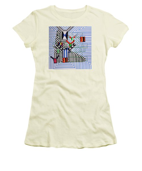 Women's T-Shirt (Junior Cut) featuring the painting Burwood Breeze by Mark Howard Jones