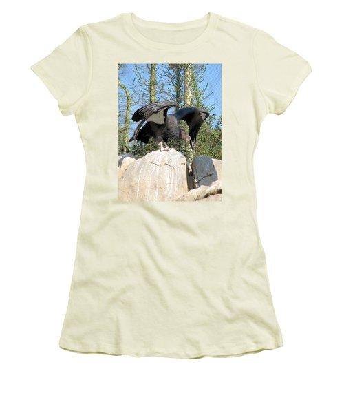 California Condor Women's T-Shirt (Junior Cut) by Carla Parris