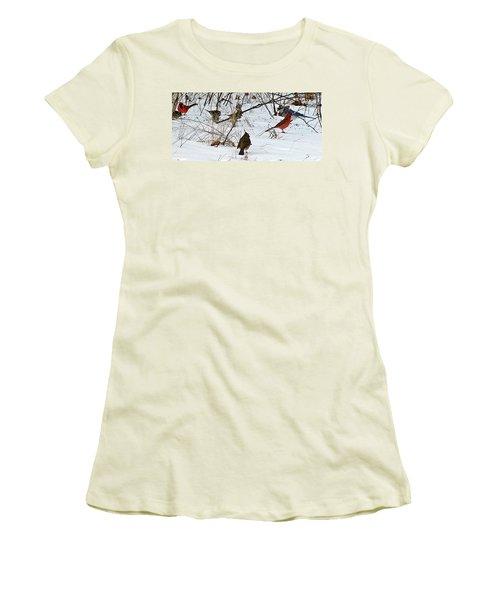 Christmas Feast Women's T-Shirt (Junior Cut) by Joe Faherty