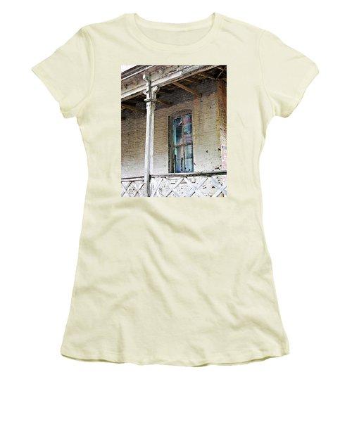 Women's T-Shirt (Junior Cut) featuring the photograph Civil War Hospital Memphis by Lizi Beard-Ward
