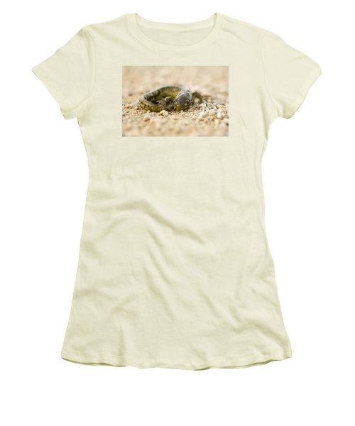 Close Up Tiger Salamander Women's T-Shirt (Junior Cut) by Mark Duffy
