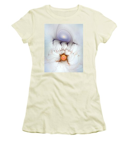 Women's T-Shirt (Junior Cut) featuring the digital art Coexistence by Casey Kotas