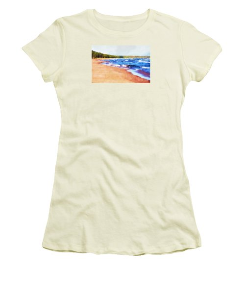 Women's T-Shirt (Junior Cut) featuring the photograph Colors Of Water by Phil Perkins