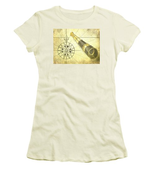 Compass And Monocular Women's T-Shirt (Athletic Fit)