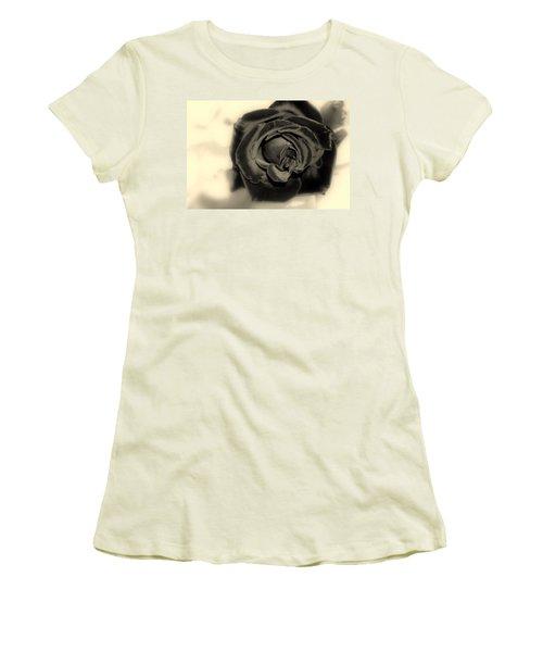 Women's T-Shirt (Junior Cut) featuring the photograph Dark Beauty by Kay Novy