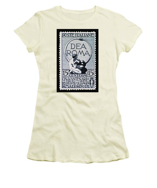 Women's T-Shirt (Junior Cut) featuring the photograph Dea Roma by Andy Prendy