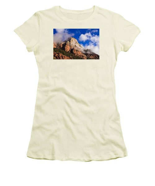 Early Morning Zion National Park Women's T-Shirt (Athletic Fit)