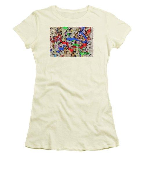 Women's T-Shirt (Junior Cut) featuring the digital art Fabric Of Life by Alec Drake