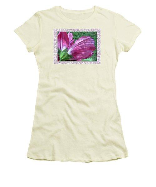Women's T-Shirt (Junior Cut) featuring the digital art Fancy Finish by Debbie Portwood