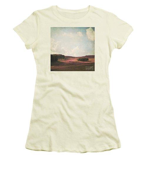 Fields Of Heather Women's T-Shirt (Junior Cut) by Lyn Randle