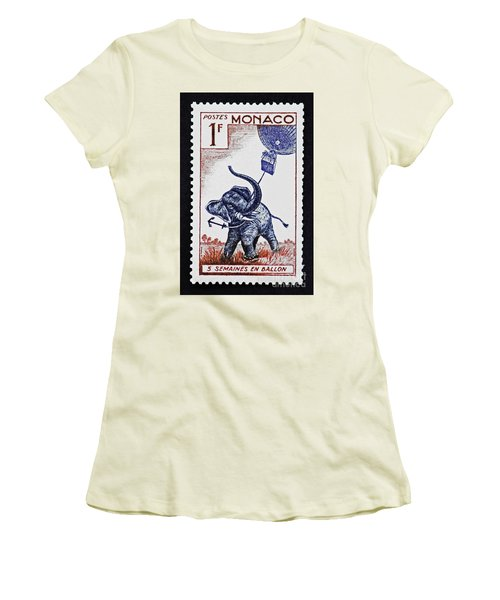 Five Weeks In A Balloon Women's T-Shirt (Junior Cut) by Andy Prendy