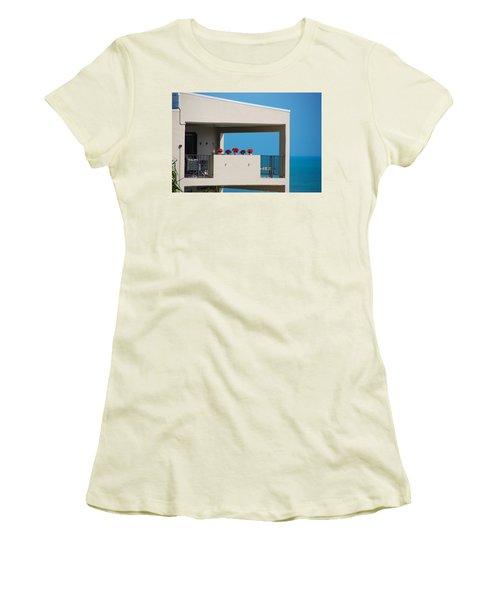 Women's T-Shirt (Junior Cut) featuring the photograph Flower Pots Five by John Schneider