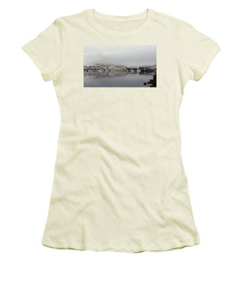 Women's T-Shirt (Junior Cut) featuring the photograph Fog On The Loch by Lynn Bolt