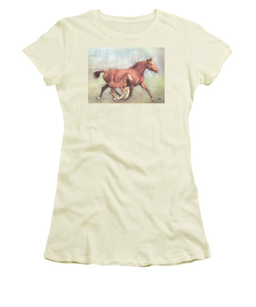 Free And Fleet As The Wind Women's T-Shirt (Athletic Fit)
