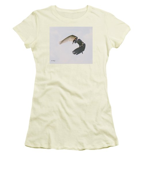 Great Egret Successful Fishing Women's T-Shirt (Athletic Fit)