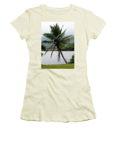 Women's T-Shirt (Junior Cut) featuring the photograph Hawaiian Palm by Athena Mckinzie