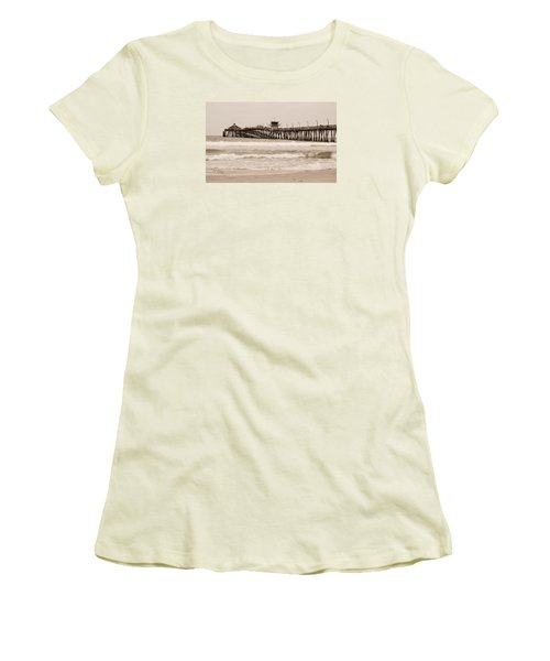 Women's T-Shirt (Junior Cut) featuring the photograph Imperial Beach by Rima Biswas