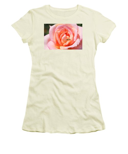 Women's T-Shirt (Junior Cut) featuring the photograph In Search Of Nectar by Fotosas Photography