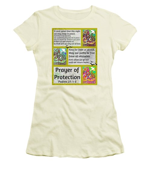 Jewish Prayer Of Protection City Of Jerusalem Gold Women's T-Shirt (Athletic Fit)