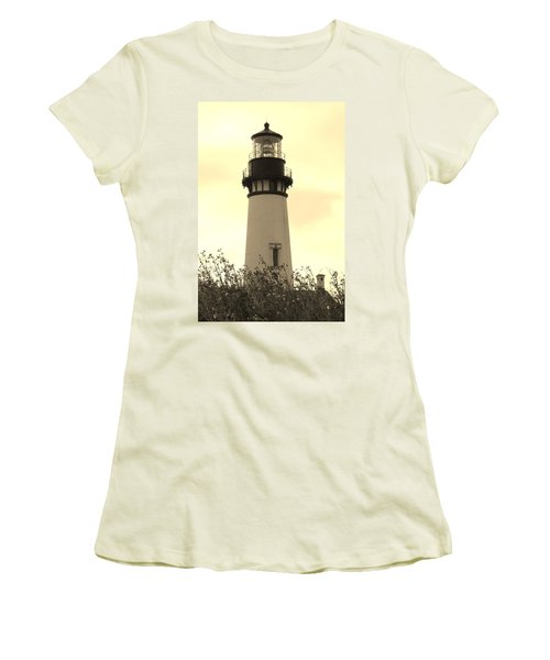 Lighthouse Tranquility Women's T-Shirt (Junior Cut) by Athena Mckinzie