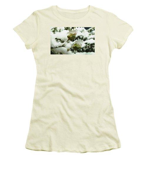 Women's T-Shirt (Junior Cut) featuring the photograph Liquid Crystal  by Steve Taylor