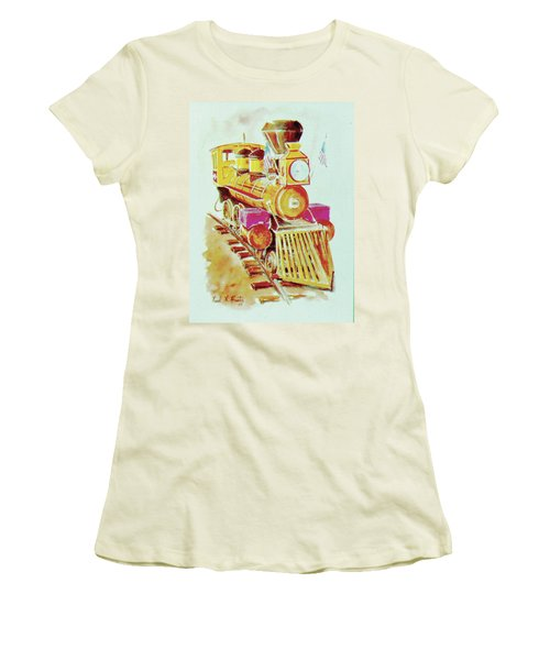 Locomotive Women's T-Shirt (Junior Cut) by Frank Hunter