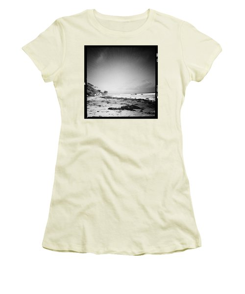 Women's T-Shirt (Junior Cut) featuring the photograph Malibu Peace And Tranquility by Nina Prommer