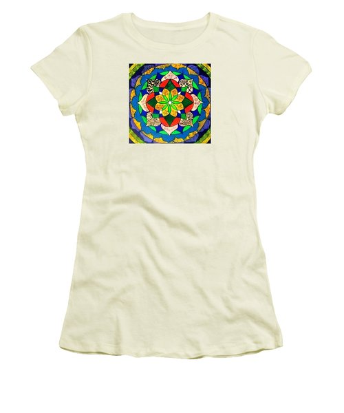 Mandala Circle Of Life Women's T-Shirt (Athletic Fit)