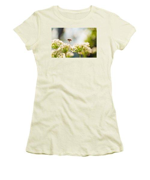 Women's T-Shirt (Junior Cut) featuring the photograph Mid-pollenation by Cheryl Baxter