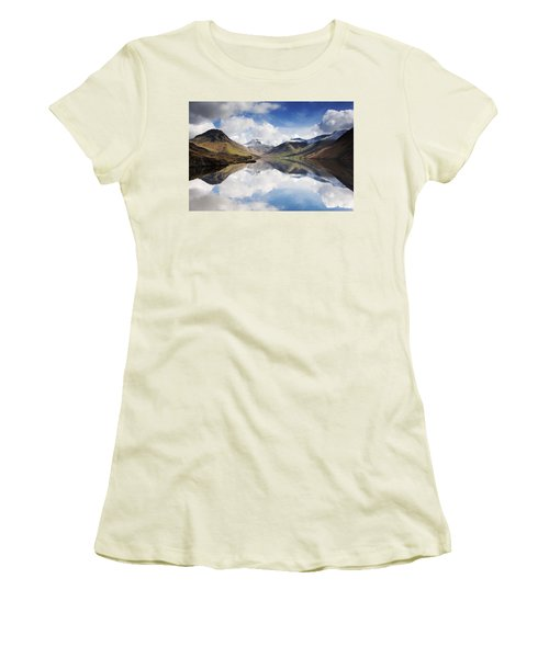 Mountains And Lake, Lake District Women's T-Shirt (Junior Cut) by John Short