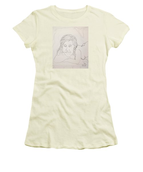 Nude Contour In Ink Women's T-Shirt (Athletic Fit)