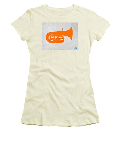 Orange Tuba Women's T-Shirt (Athletic Fit)