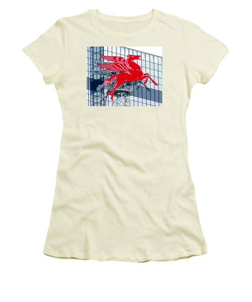 Women's T-Shirt (Junior Cut) featuring the photograph Pegasus by Charlie and Norma Brock