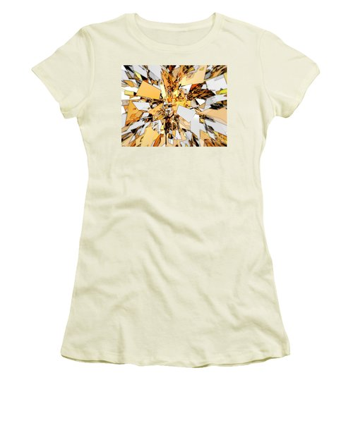 Women's T-Shirt (Junior Cut) featuring the digital art Pieces Of Gold by Phil Perkins