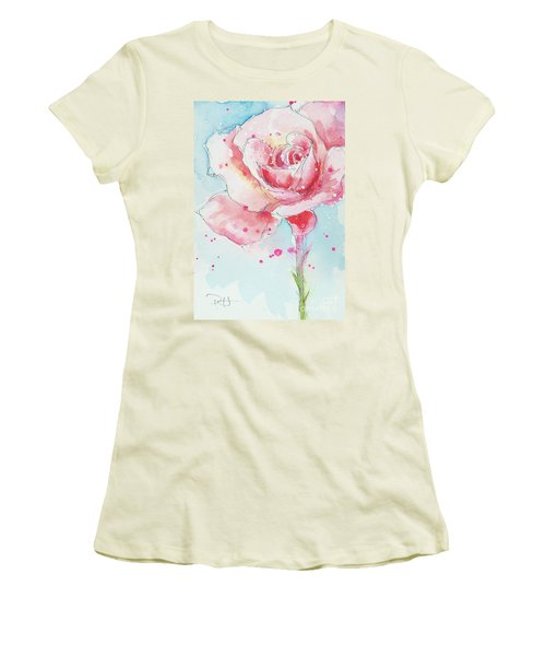 Pink Rose Women's T-Shirt (Athletic Fit)