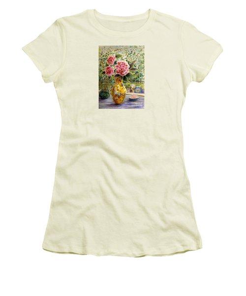 Rainy Afternoon Joy Women's T-Shirt (Junior Cut) by Dee Davis