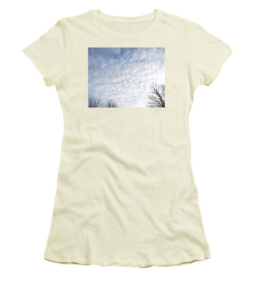 Women's T-Shirt (Junior Cut) featuring the photograph Reaching The Clouds by Pamela Hyde Wilson