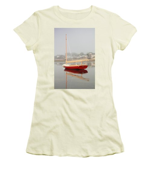 Ruby Red Catboat Women's T-Shirt (Athletic Fit)