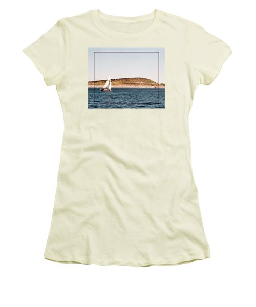 Women's T-Shirt (Junior Cut) featuring the photograph Sailing On Carter Lake by David Pantuso