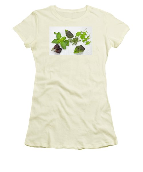 Salad Greens And Spices Women's T-Shirt (Junior Cut) by Joana Kruse