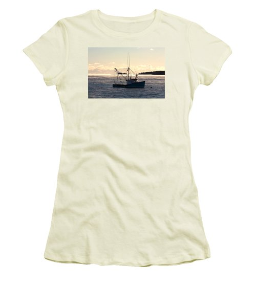 Sea-smoke On The Harbor Women's T-Shirt (Junior Cut) by Brent L Ander